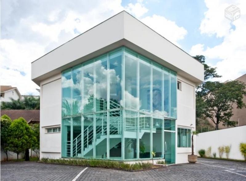 Fabricante de Fachada de Vidro Temperado Verde Santa Rita do Ribeira - Fachada de Vidro com Inox