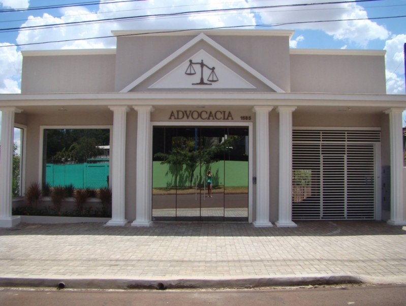 Fachada de Vidro Advocacia Cotação Presidente Prudente - Fachada de Vidro Comercial
