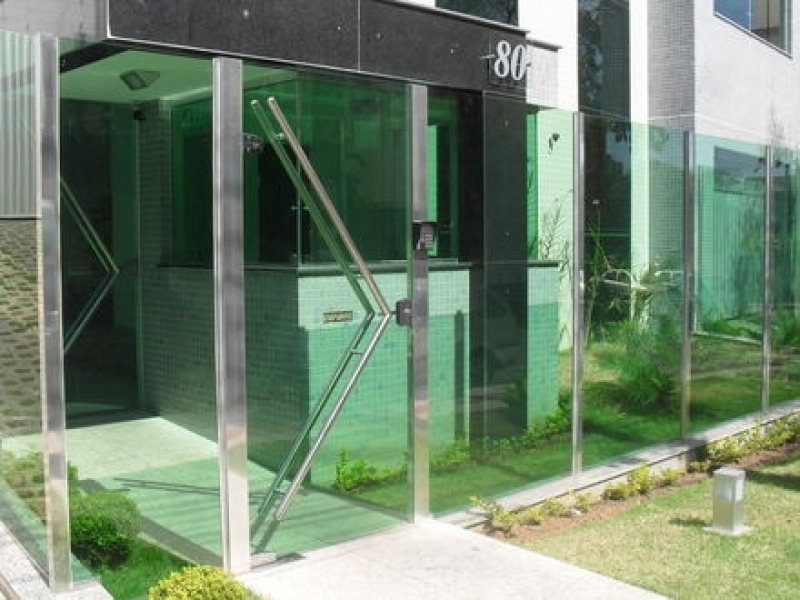 Fachada de Vidro com Inox Votuporanga - Fachada de Vidro Advocacia