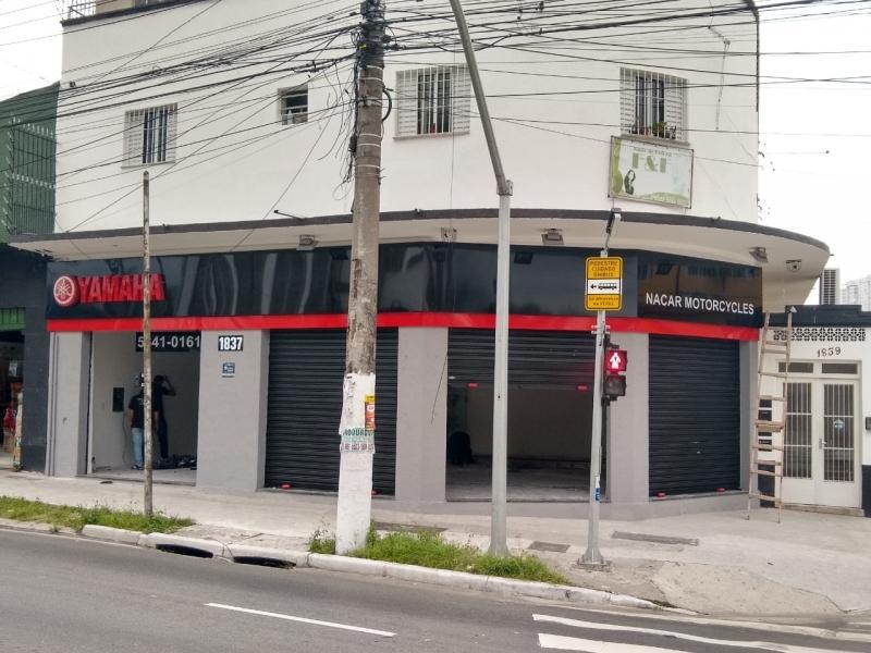 fachadas de loja moderna São Vicente