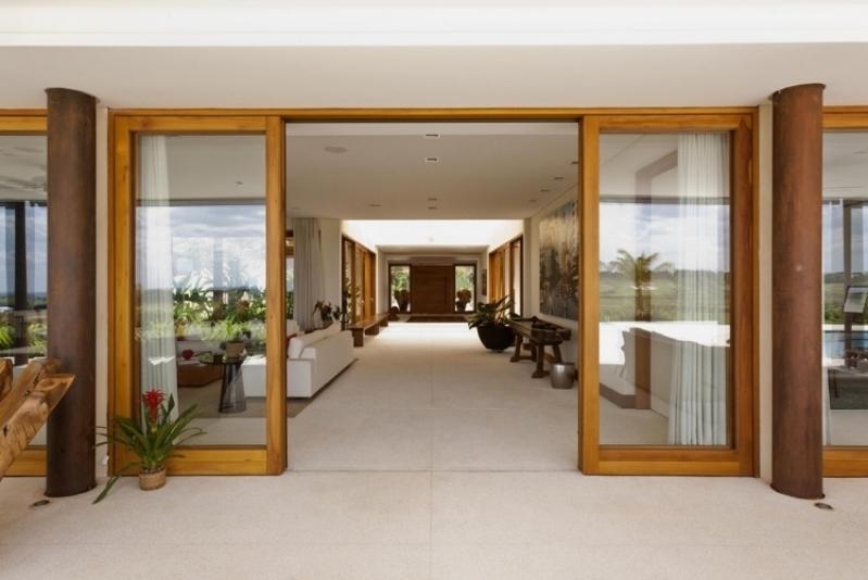Fachadas de Vidro com Madeira Campinas - Fachada de Vidro Temperado