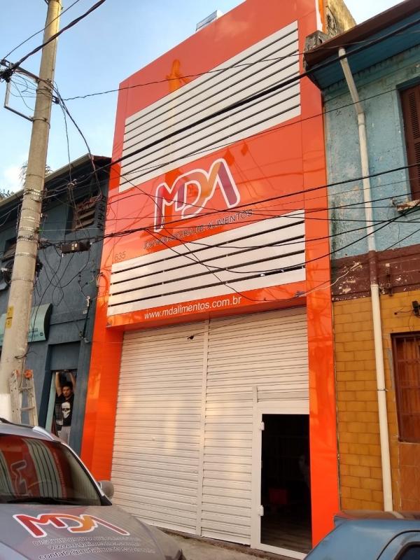 Fachadas em Acm para Comércio Araraquara - Fachada de Acm Preto