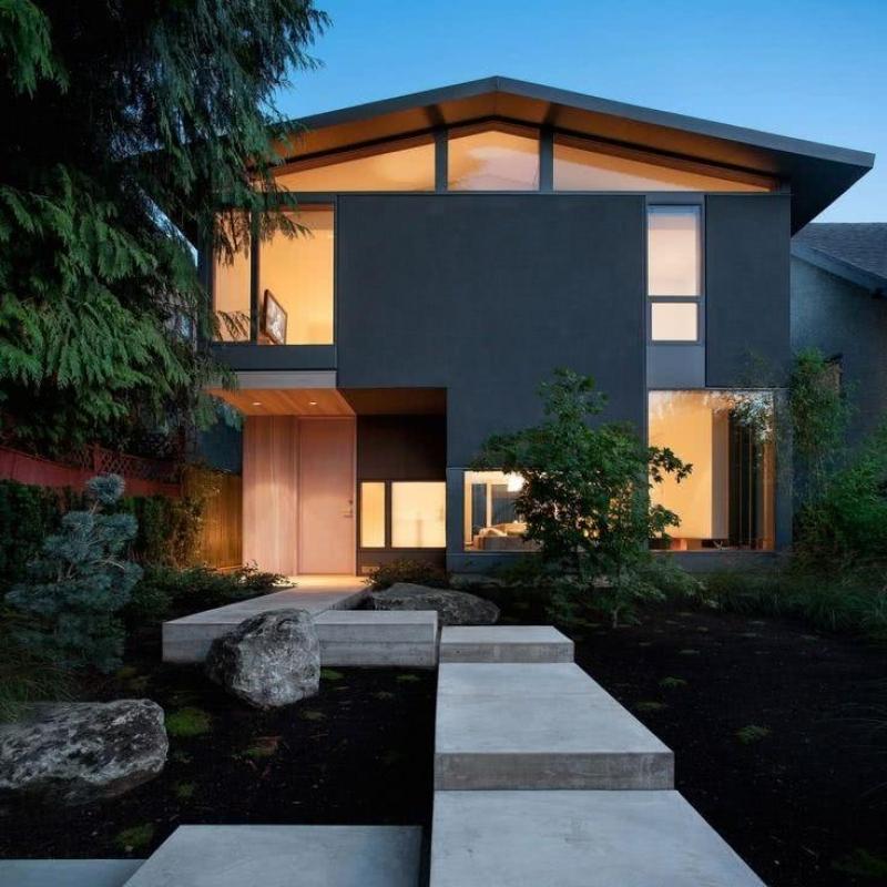 Instalação de Fachada de Vidro Residencial Americana - Fachada de Vidro com Inox