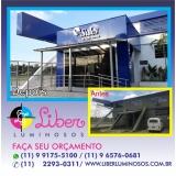 empresa de fachada de acm preto com led Caraguatatuba
