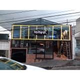 empresa de fachada de loja amarela Paulínia