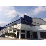 fachada de empresa moderna sob medida Jaboticabal