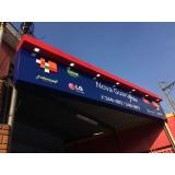fachada de loja com led valor Tanquinho