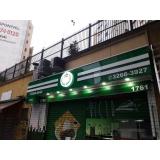 fachada de loja com led Ubatuba