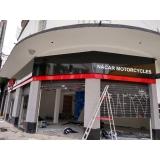 fachada de loja moderna Praia da Baleia