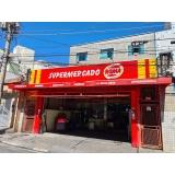 fachada de supermercado em acm Guarujá