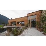 fachada de vidro com madeira Campinas