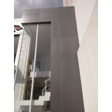 fachada de vidro temperado Cocais