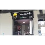 fachada loja acrílico valor Riviera de São Lourenço
