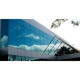 fachadas de vidro temperado verde Araras