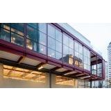 fachadas de vidro transparente Paulínia