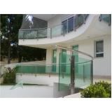 instalação de fachada de vidro com inox Araras