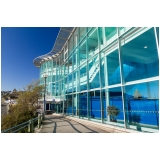 instalação de fachada de vidro temperado verde Atibaia