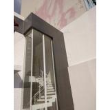 instalação de fachada de vidro transparente Litoral