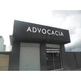 onde fazer letreiro para advogados Iguape