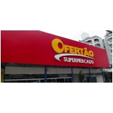 onde fazer letreiro para supermercado Guarujá