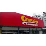 onde fazer letreiro para supermercado Canguera