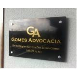 orçamento de letreiro para advogados Vila Batista