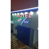 orçamento de letreiro para fachada de motel São José dos Campos