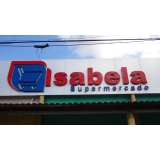 orçamento de letreiro para supermercado Sorocaba