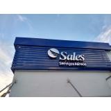 quanto custa fachada de empresa moderna Santos